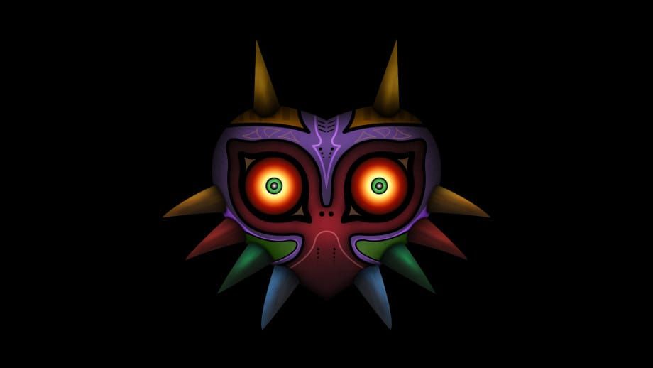 Majora_Mask_Minimal_Black