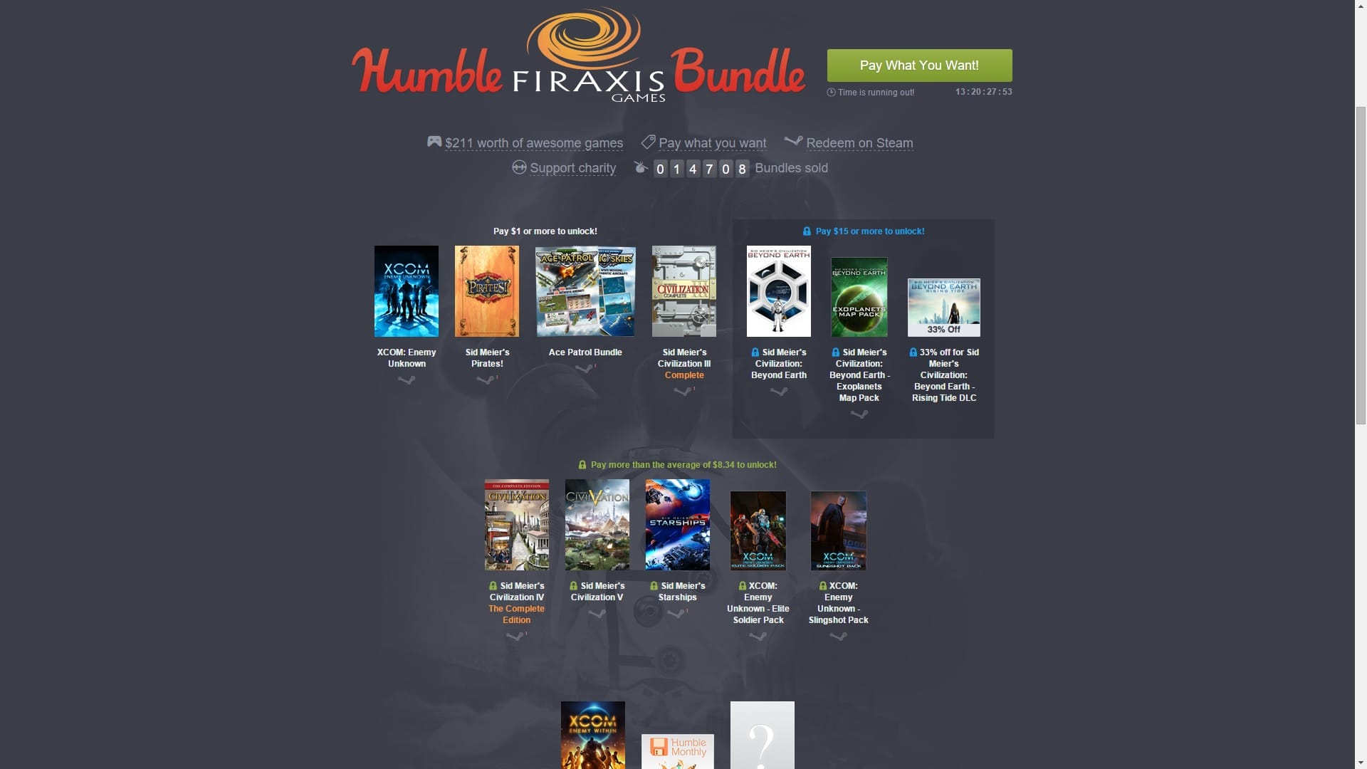 Humble Bundle Fireaxis