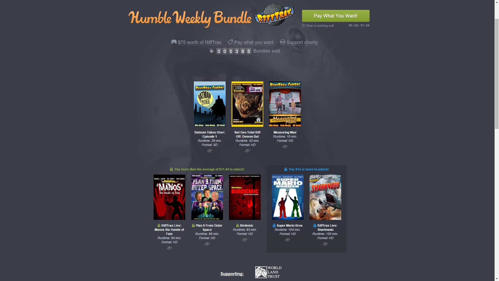 Humble Weekly Bundle RiffTrax