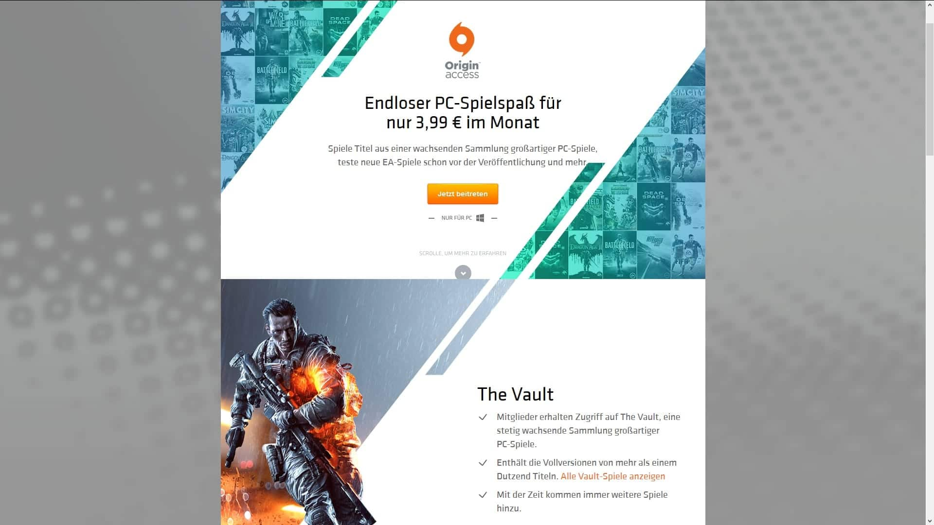 Origin Access Launch