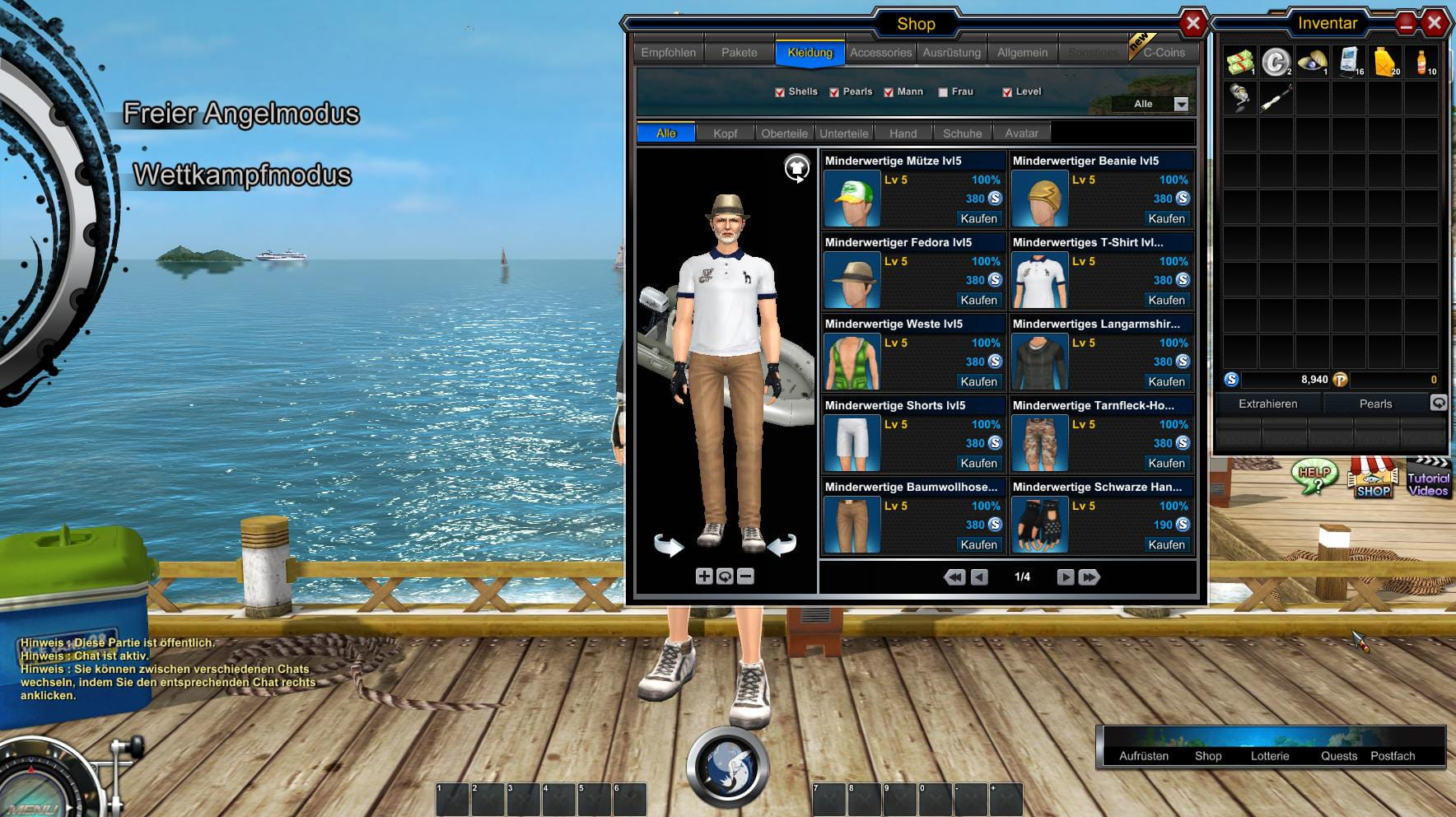 WorldOfFishing screen four