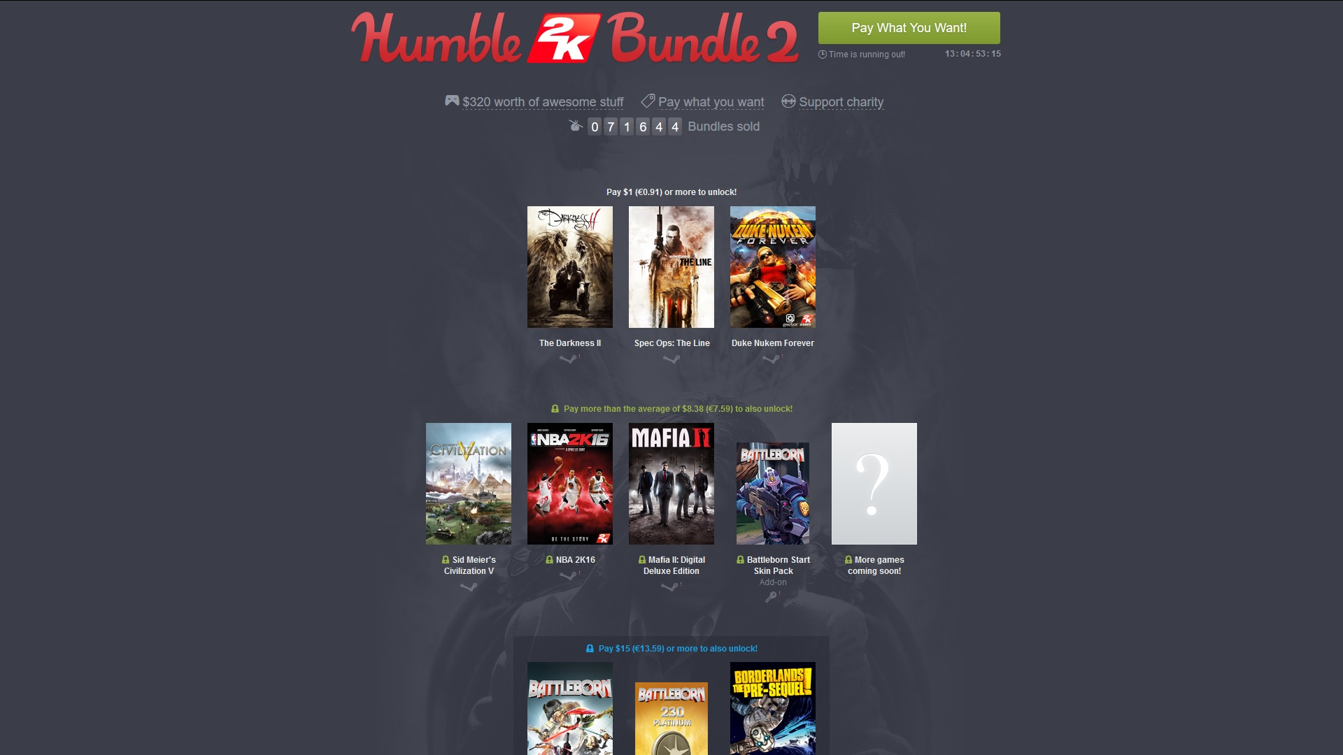 Humble Bundle 2K Bundle 2
