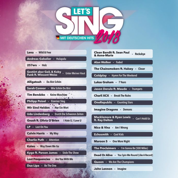 Singstar Lieder